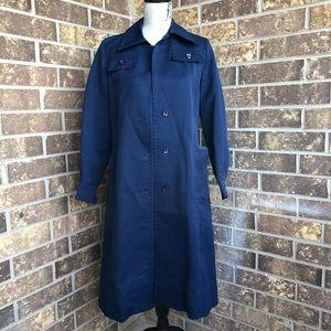 Jackets & Blazers - Long blue coat